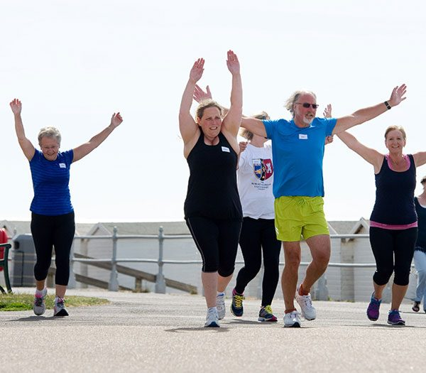 Beginners running class in Bexhill