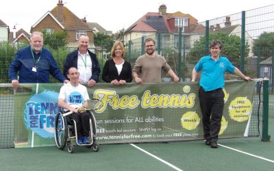 Tennis in the park proves a hit